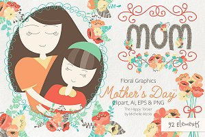 Mother's Day Clipart & Vector #09