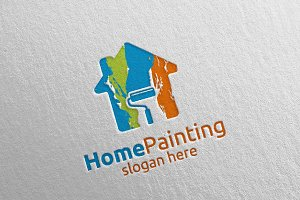 Home Painting Vector Logo Design 17