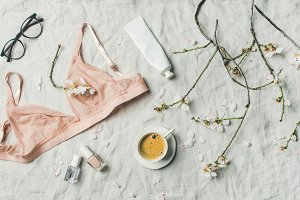 Womans morning rituals