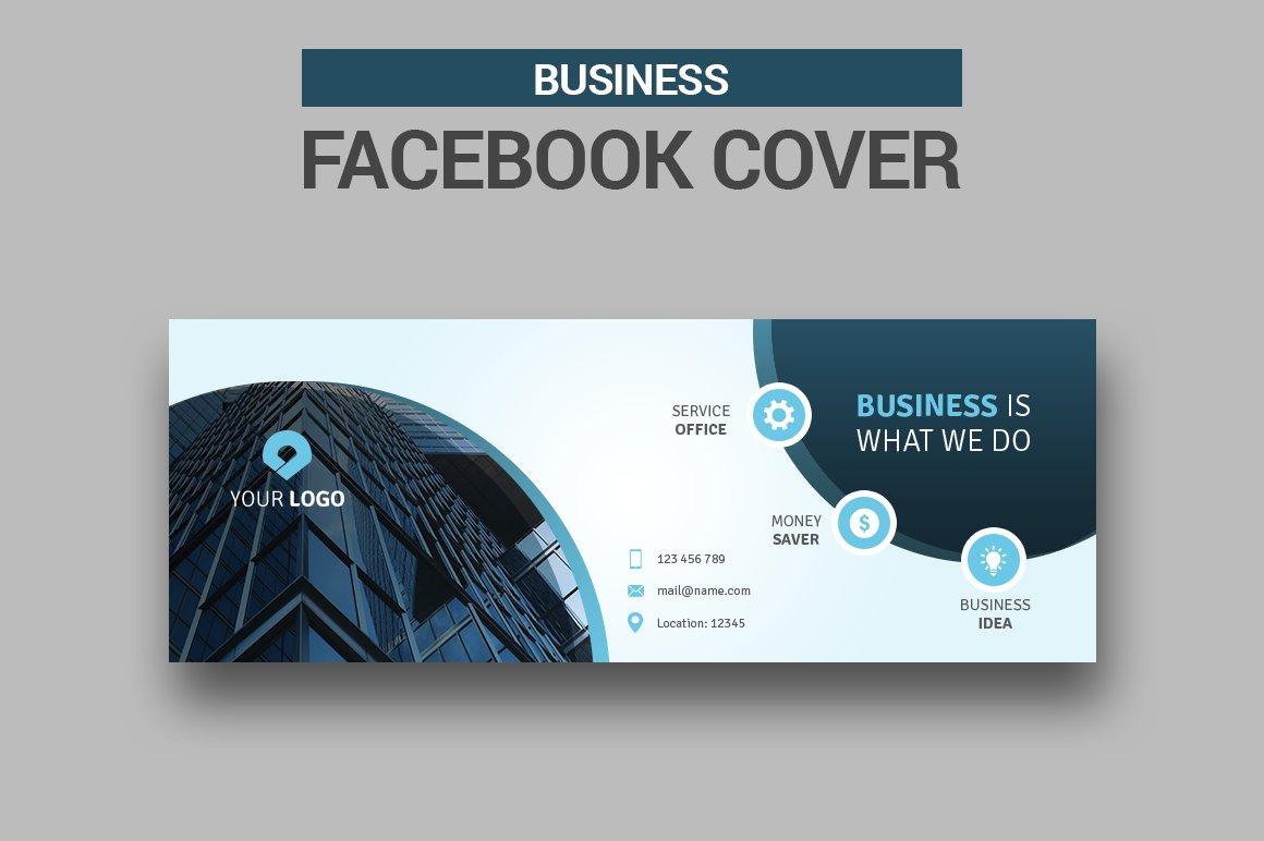 Business Facebook Cover #043 ~ Facebook Templates ~ Creative Market
