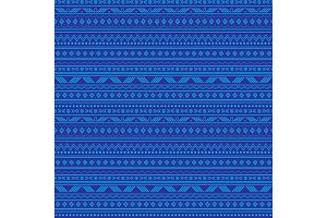 Vector abstract blue tribal stripes seamless pattern background. Great for fabric, wallpaper, invitations, scrapbooking.