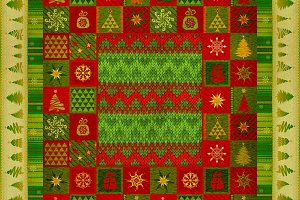 Christmas ornament carpet