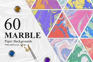 60 Marble Paper Backgrounds