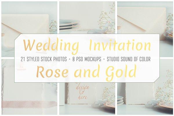 Wedding Cards Invitation Mockup