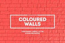 Coloured walls. Set of 10