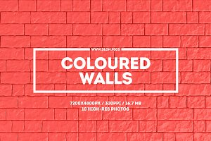 Coloured walls. Set of 10
