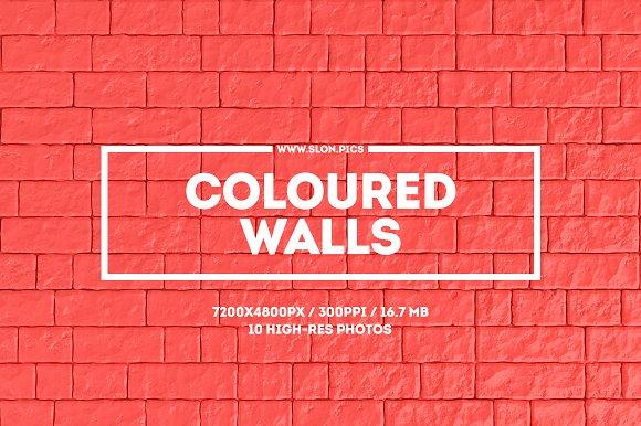 Coloured Walls Set Of 10