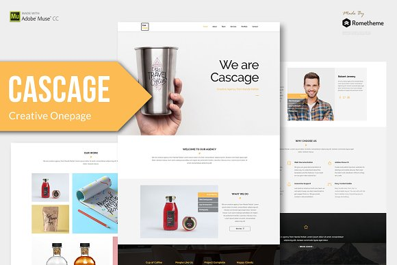 Cascage Adobe Muse Template