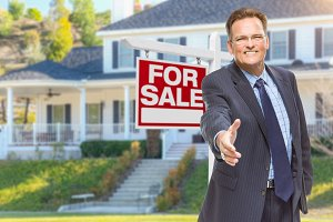 Agent, Hand Out, House & Sale Sign