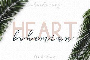 Bohemian Heart. Font duo
