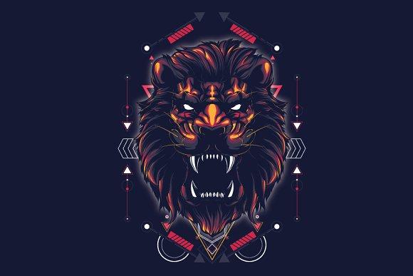The Lion-sacred geometry