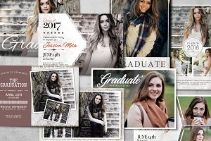 Graduation Card Bundle Template