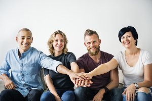 Diverse people with teamwork
