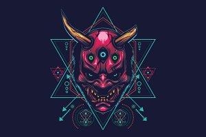 The Devil Mask - sacred geometry