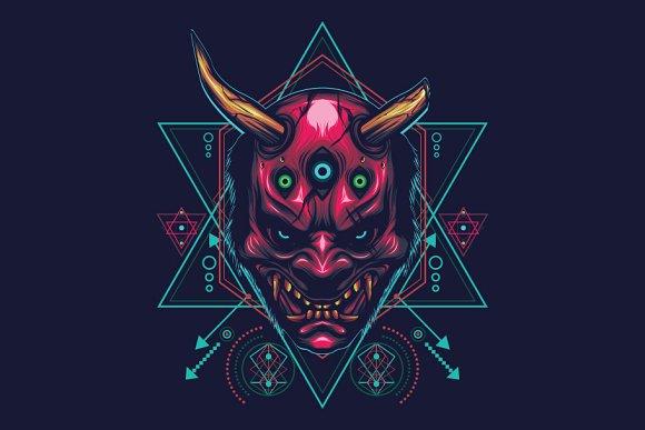 The Devil Mask Sacred Geometry