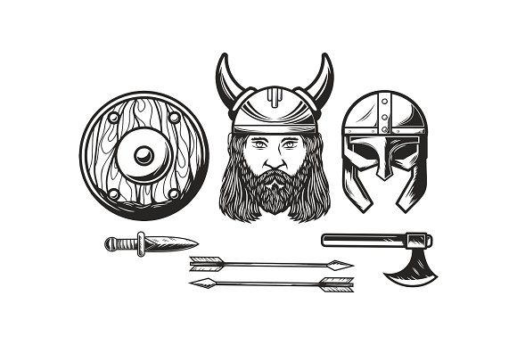 Cool Viking Head