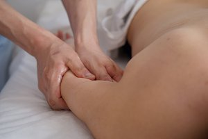 Spa. The hands of the massage therapist make a massage on the arm
