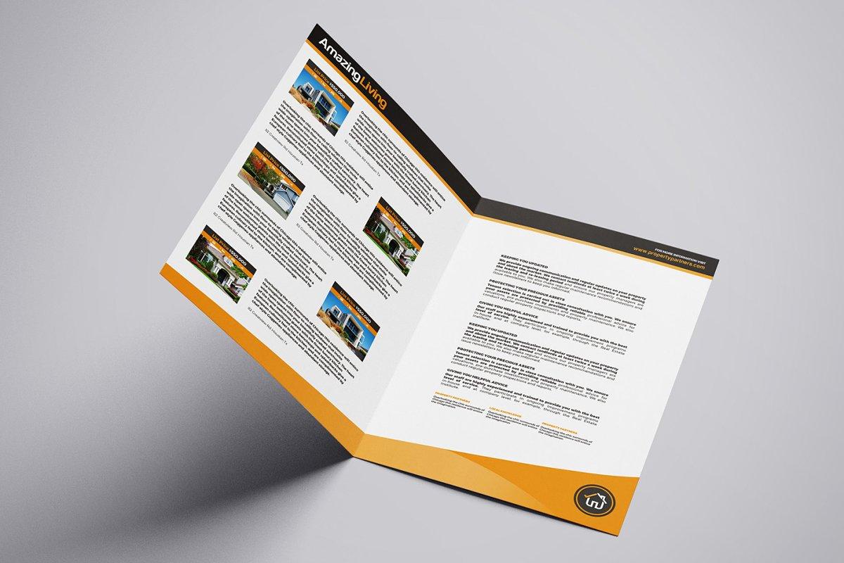 A3 Real Estate Brochure Template ~ Brochure Templates ~ Creative Market
