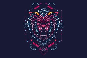 The Mythical Lion - sacred geometry