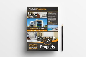A4 Real Estate Poster Template 3