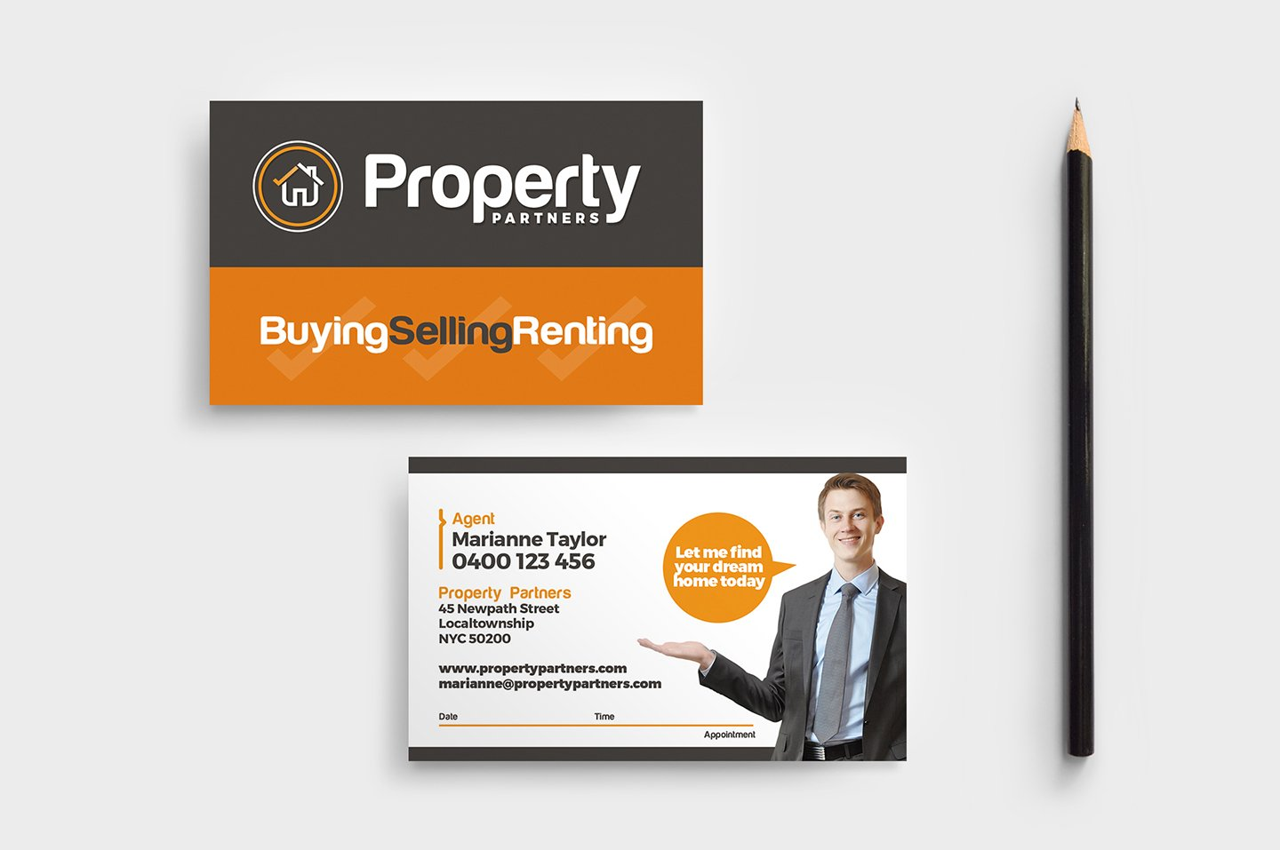 Real estate business card template business card templates real estate business card template business card templates creative market accmission Images