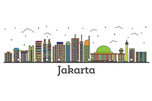 Outline Jakarta Indonesia City