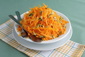 Salad of pumpkin