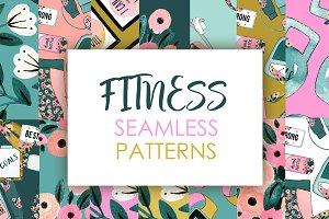 Fitness seamless patterns