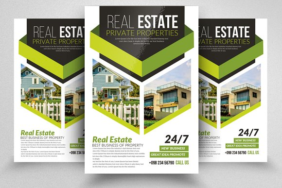 10 real estate flyers bundle flyer templates creative market
