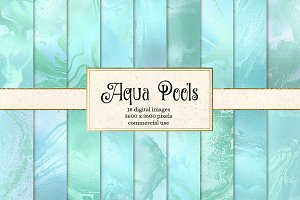 Aqua Pools digital paper