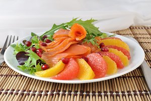 Appetizer with salmon