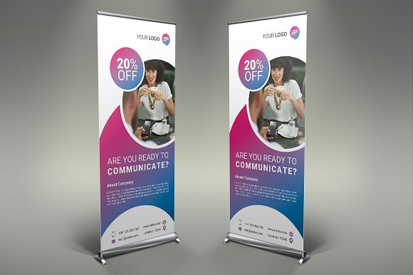 Communication Roll Up Banner #106