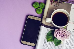 Purple Coffee Magazine Smartphone