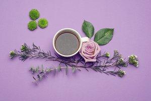 Purple Coffee Flowers