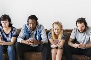 People enjoying music together