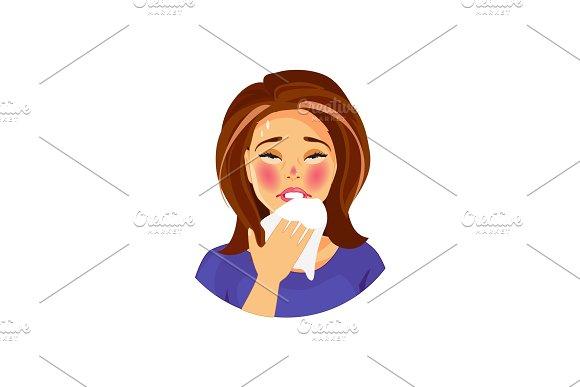 Sick Woman Vector