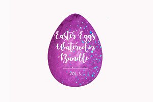 Easter Eggs Watercolor Bundle vol.3