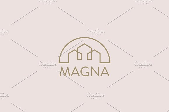 House City Vector Logotype Premium Real Estate Logo Line Home Icon Symbol