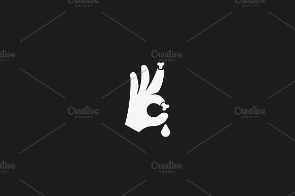 Halloween Bones Vector Sign Trick Or Treat Ok Symbol Icon Humor Optimism Card Greeting Logo