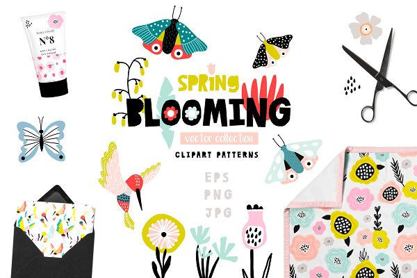 Spring Blooming vector collection