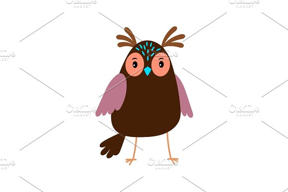 Cute Cartoon Owl Bird Icon