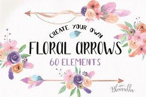 Watercolor Arrow Creator Kit