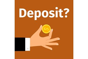 Motivation poster for money deposit