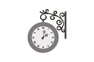 Street vintage wall clock