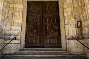 Santander Cathedral, door to church