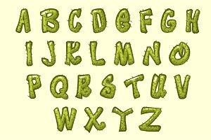 Cartoon cactus font
