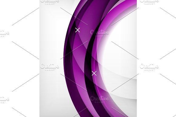 Glossy Wave Vector Background With Light And Shadow Effects White Cross Shapes