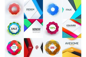 Creative design of abstract vector design elements for graphic template. Creative modern business background.