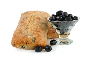 Ciabatta with olives