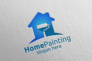 Home Painting Vector Logo Design 16